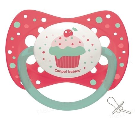 Пустышка силиконовая Canpol Babies Cupcake симметричная 23 / 284_pin, 18+ месяцев, 1 штука