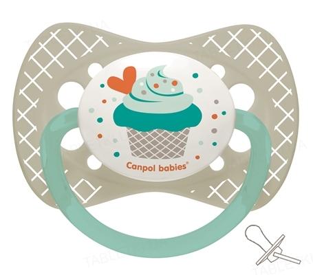 Пустышка силиконовая Canpol Babies Cupcake симметричная 23 / 283_grey, 6-18 месяцев, 1 штука