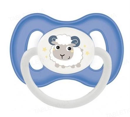 Пустышка силиконовая Canpol Babies Bunny & Company симметричная, 23 / 270_blu, 18+ месяцев, 1 штука