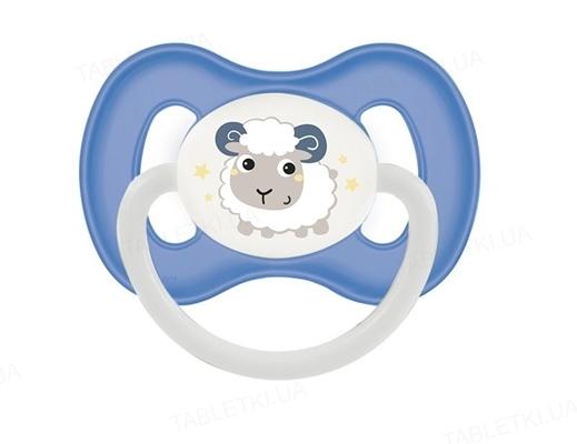 Пустышка латексная Canpol Babies Bunny & Company круглая 23 / 278_blu 6-18 месяцев, 1 штука