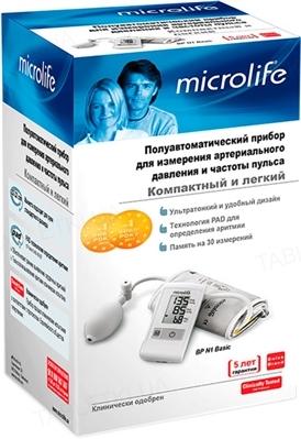 Тонометр Microlife ВР N1 Basic полуавтоматический