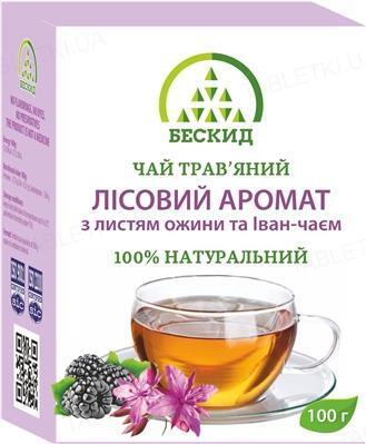 Чай травяной Бескид Лесной аромат с листьем ежевики и Иван-Чаем, 100 г