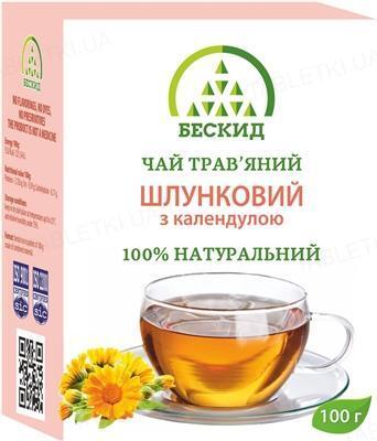 Чай травяной Бескид Желудочный с календулой, 100 г