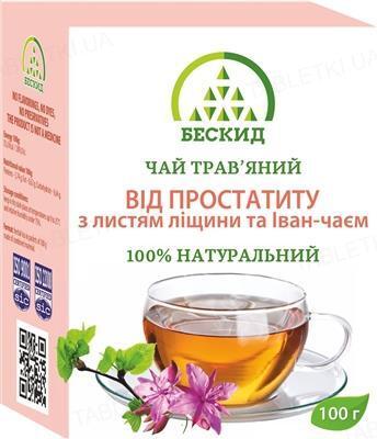 Чай травяной Бескид От простатита с листьями лещины и Иван-чаем, 100 г