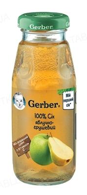 Сок фруктовый Gerber Яблочно-грушевый, 175 мл