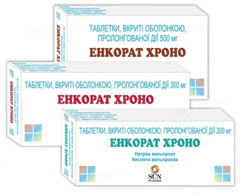Энкорат хроно таблетки, п/о, прол./д. по 500 мг №30 (10х3)