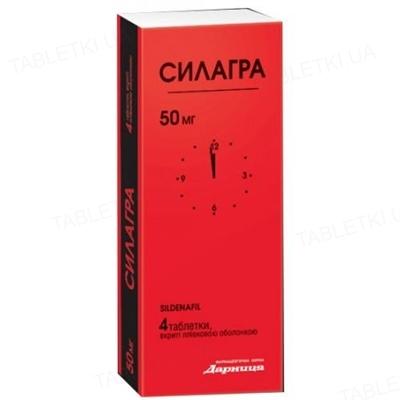 Силагра таблетки, п/о по 50 мг №4