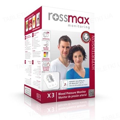 Тонометр Rossmax X3 автоматический с сетевым адаптером
