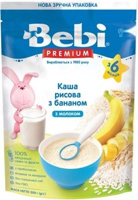 Суха молочна каша Bebi Premium Рисова з бананом, 250 г