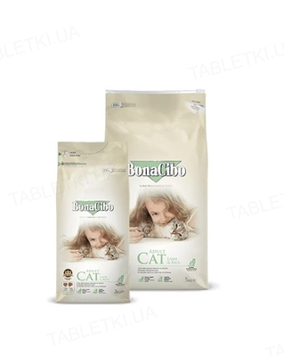 Корм сухой для кошек BonaCibo Adult Cat Lamb&Rice ягненок и рис, 2 кг