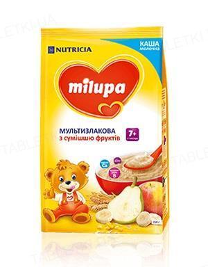 Молочная каша Milupa мультизлаковая со смесью фруктов для детей от 7 месяцев, 210 г