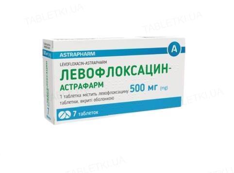 Левофлоксацин-Астрафарм таблетки, п/о по 500 мг №7