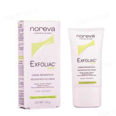 Крем Noreva Exfoliac для лица, увлажняющий, для проблемной кожи, 40 мл