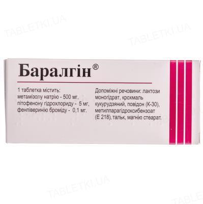 Баралгин таблетки №100 (10х10)