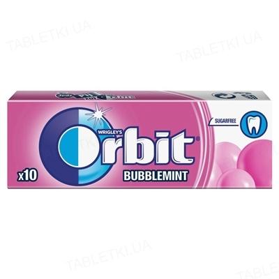 Жувальна гумка Orbit Bubblemint без цукру з фруктовим і м'ятним ароматом, 14 г
