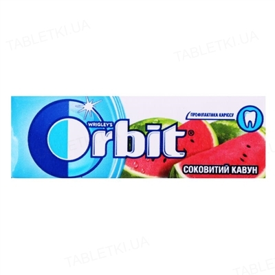 Жувальна гумка Orbit без цукру Соковитий кавун, 14 г