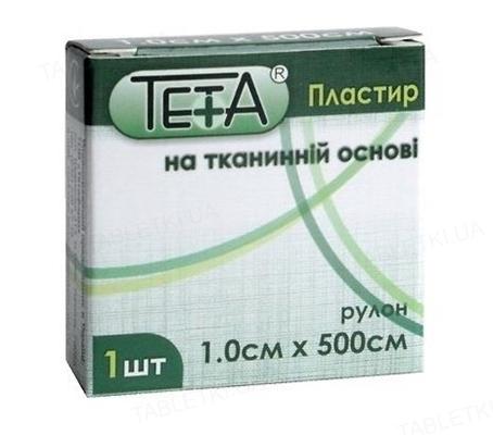Пластырь медицинский Teta на тканевой основе, катушка, 1 х 500 см, 1 штука
