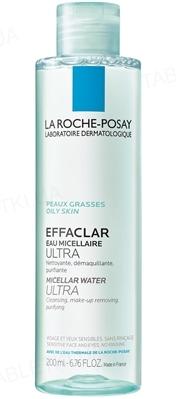 Мицеллярний розчин La Roche-Posay Effaclar очищаючий для жирної, проблемної шкіри обличчя і очей, 200 мл