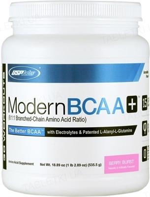 Аминокислота USPlabs Usp Modern BCAA+ Berry Burst, 535 г