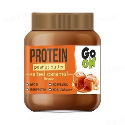 Арахисовая паста Go On Protein Peanut butter Salted Caramel, 350 г