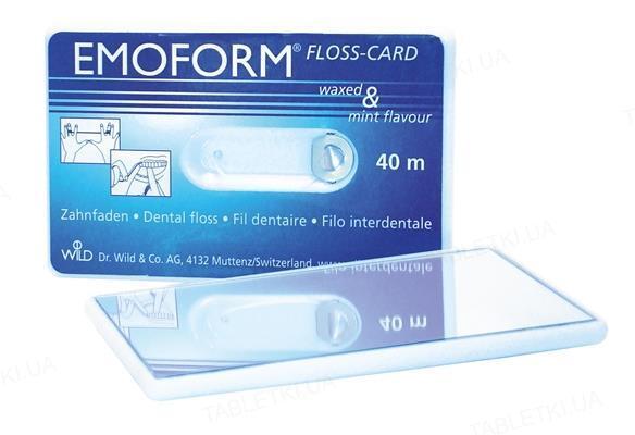 Флосс-карта Emoform Floss Card с зеркалом, 40 м