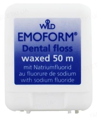 Зубная нить Dr. Wild Emoform вощеная, с фторидом, 50 м