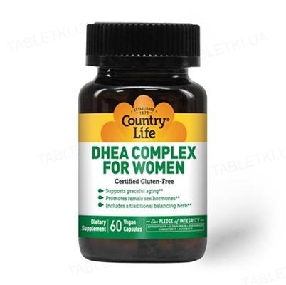 Витаминно-минеральный комплекс Country Life DHEA Complex для женщин, 60 капсул