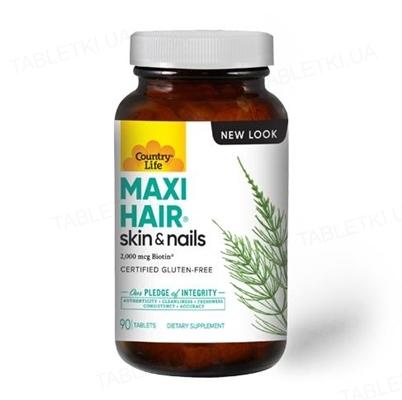 Витаминно-минеральный комплекс Country Life Maxi Hair, 90 таблеток