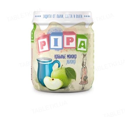 Фруктовое пюре Pipa из яблок с кобыльим молоком, 100 г