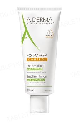 Лосьон для тела A-Derma Exomega Control, смягчающий, устраняет зуд, 200 мл