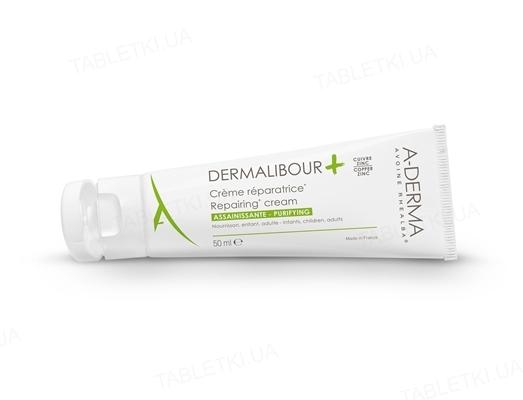 Крем A-Derma Dermalibour+, антибактериальный, с экстрактом овса Реальба, 50 мл