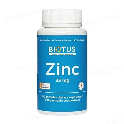 Цинк Biotus капсулы по 35 мг №100