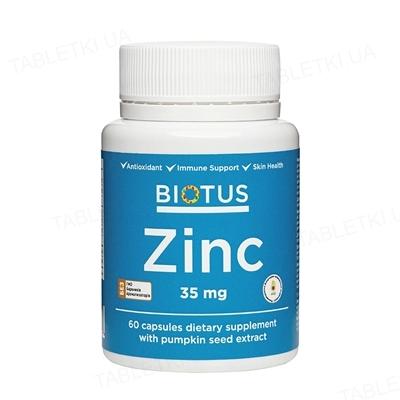 Цинк Biotus капсулы по 35 мг №60