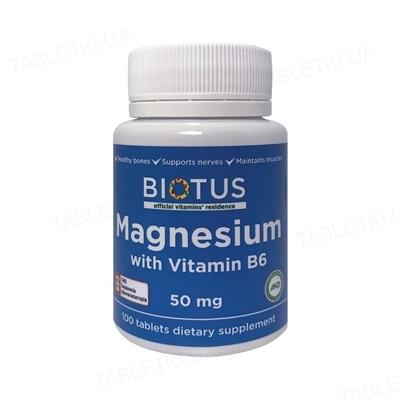 Магний и витамин В6 Biotus таблетки №100