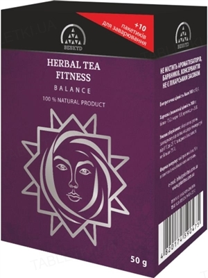 Чай травяной Бескид Фитнес баланс, 50 г