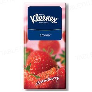 Платочки бумажные Kleenex с ароматом клубники №10