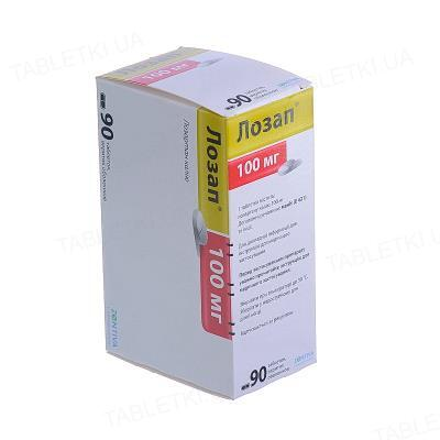 Лозап таблетки, п/о по 100 мг №90 (10х9)