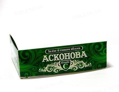 Асконова Железо со вкусом яблока таблетки №120 (10х12) в этикет.