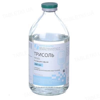 Трисоль раствор д/инф. по 400 мл в бутыл.