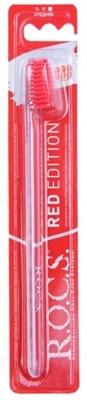Зубная щетка R.O.C.S. Red Edition Классическая средняя, 1 штука