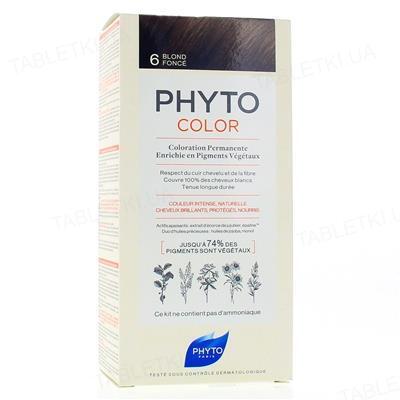 Крем-краска Phyto Phytocolor, тон 6 темно-русый, 60 мл + 40 мл