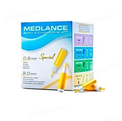 Ланцеты Medlance Plus Special глубина прокола 2,0 мм, стерильные G21, 200 штук