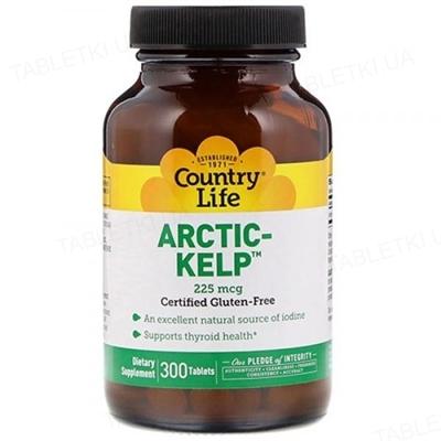 Натуральная добавка Country Life Arctic Kelp (норвежская ламинария) 225 мкг, 300 таблеток