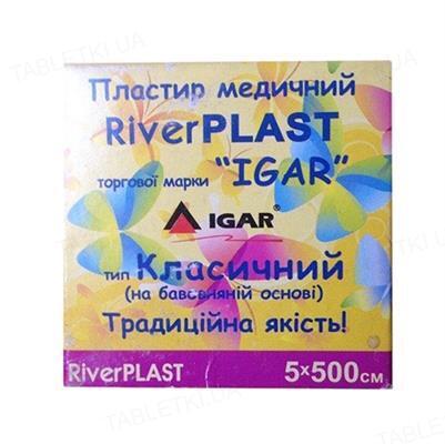 Пластир медичний IGAR RiverPlast тип Класичний на тканинній основі (бавовна) 5 см х 500 см, 1 штука