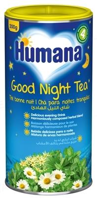 Чай Humana Сладкие сны растворимый для детей с 4 месяцев, 200 г