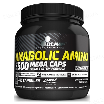 Аминокислота Olimp Anabolic Amino 5500 Mega, 400 капсул