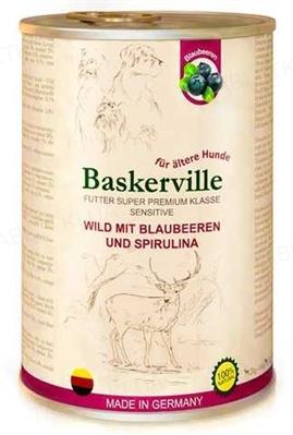 Консерва для собак Baskerville Sensitive Оленина с черникой и спирулиной, 400 г