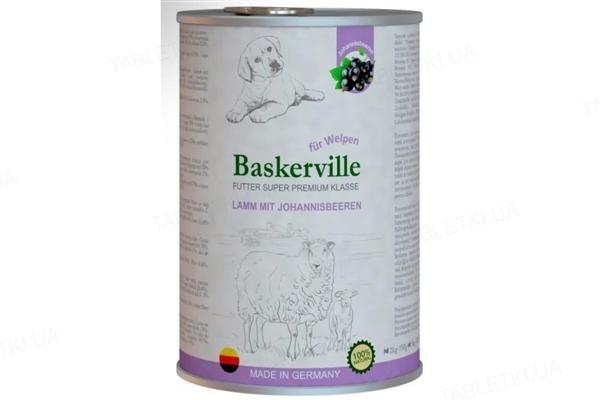 Консерва для щенков Baskerville Super Premium с ягненком и смородиной, 400 г