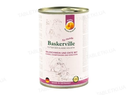 Консерва для собак Baskerville Holistic Кабан и утка с тыквой и зеленью, 800 г