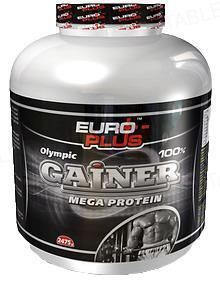 Гейнер Euro Plus Mega Protein, 825 г, банка
